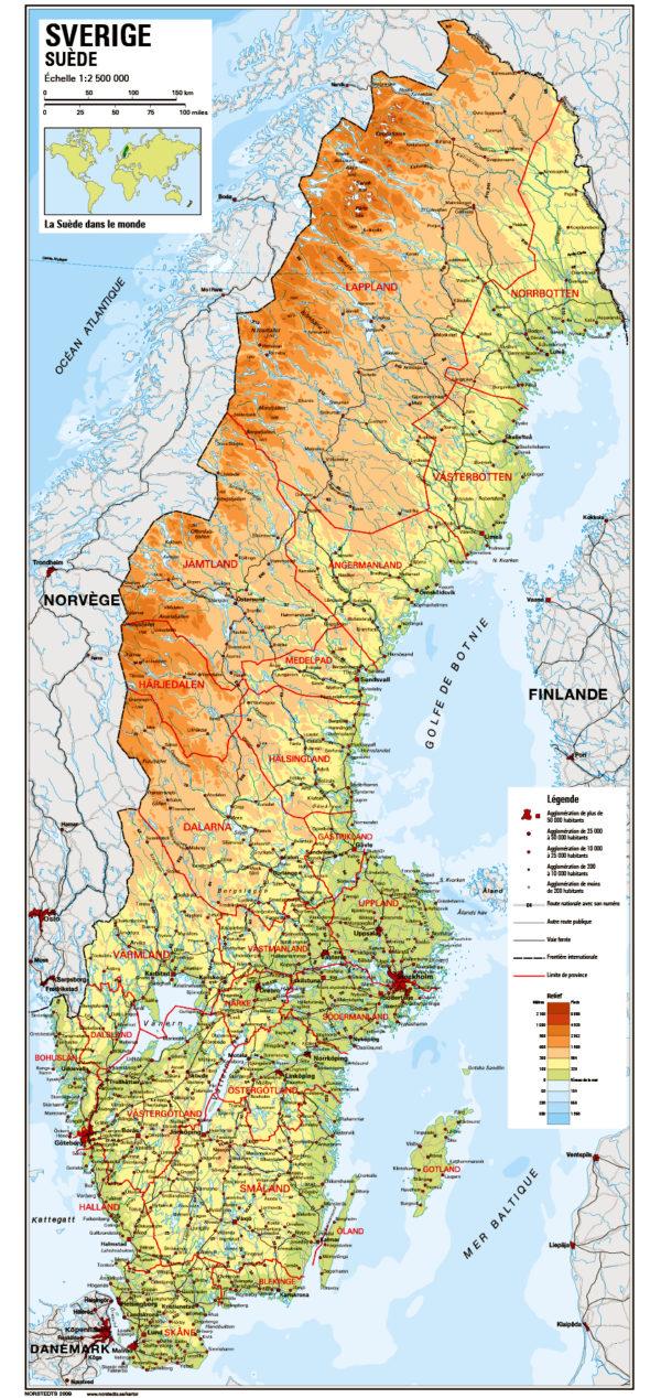 carte de la suède Carte de la Suède | Sharing Sweden