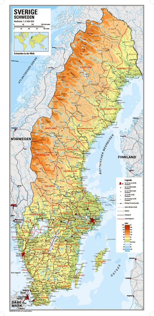 schweden karte Karte von Schweden | Sharing Sweden