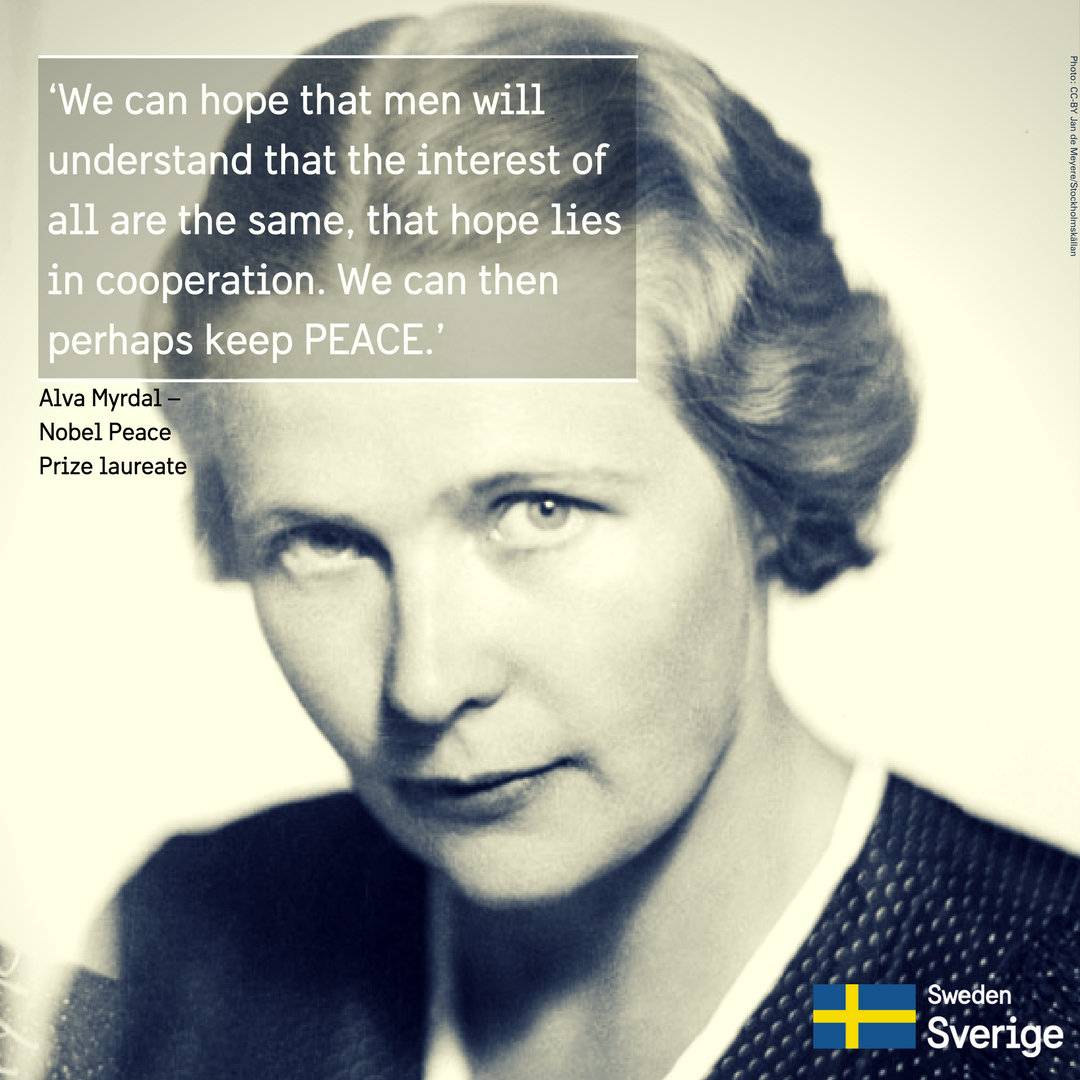 Alva Myrdal Quote Sharing Sweden
