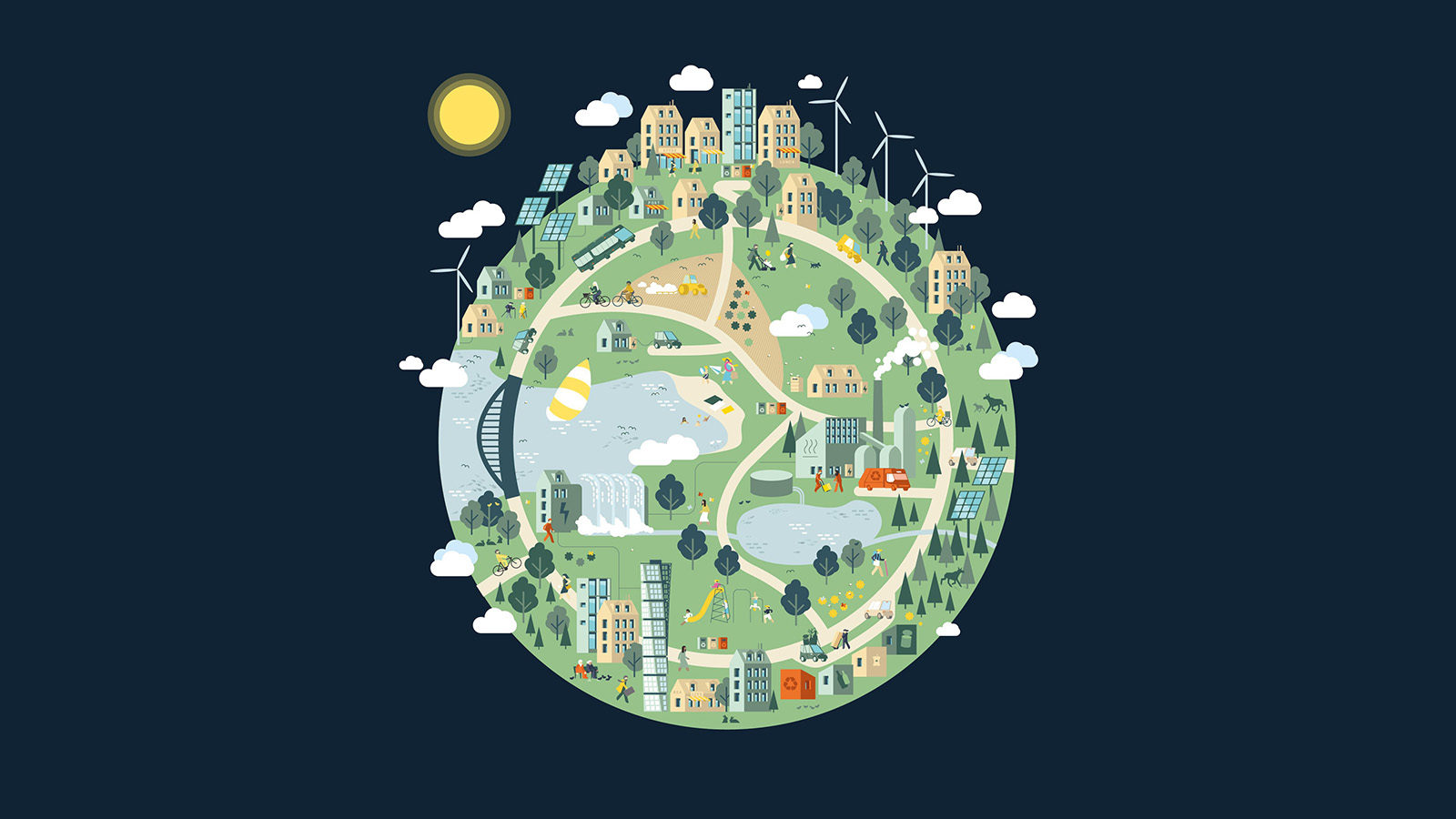 Illustration of the globe