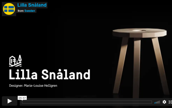 Image from the video with the Lilla Snåland stool